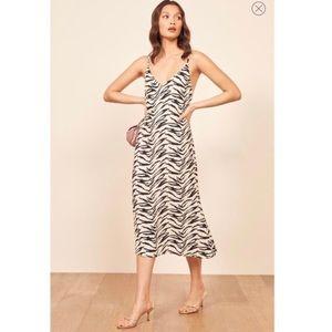 Reformation   Alexandra Jayne Midi Zebra Dress